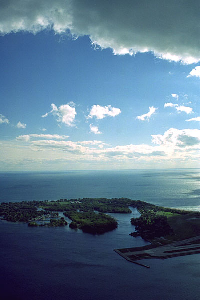 Toronto Islands from CN Tower